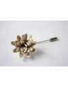 Daisy flower Lapel Pin for Men, wedding boutonniere, Ivory Alcantara®, men flower lapel pin for Dapper Men, Groom & Groomsmen
