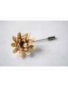 Daisy flower Lapel Pin for Men, wedding boutonniere, Light Yellow Alcantara®, men flower lapel pin for Dapper Men, Groom & Groom