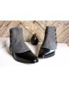 Men's Spats herringbone 100% merino wool Anthracite grey