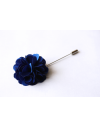 Ultramarine satin flower - lapel pin for dapper men