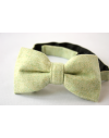 Lime green Flannel Wool Bow tie for Wedding Groom or Dapper men