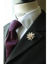 Daisy flower Lapel Pin for Men, wedding boutonniere, Ivory Alcantara®, men flower lapel pin for Dapper Men, Groom & Groomsmen