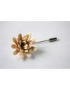 Daisy flower Lapel Pin for Men, wedding boutonniere, Light Yellow Alcantara®, men flower lapel pin for Dapper Men, Groom & Groom