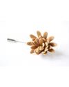 Daisy flower Lapel Pin for Men, wedding boutonniere, Beige Nude Alcantara®, men flower lapel pin for Dapper Men, Groom & Groom