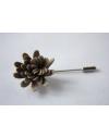 Daisy flower Lapel Pin for Men, wedding boutonniere, Taupe Alcantara®, men flower lapel pin for Dapper Men, Groom & Groom