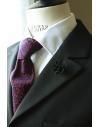 Daisy flower Lapel Pin for Men, wedding boutonniere, Black Alcantara®