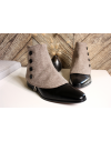Men's Spats herringbone 100% merino wool Vison for elegant men dandy