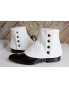 Guêtres Luxe pour Homme en Ottoman blanc - ligne Tailoring - guêtres pour hommes élégants