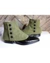 Men's Spats herringbone 100% merino wool Olive Green for elegant men dandy