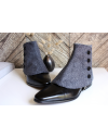 Men's Spats herringbone 100% merino wool Indigo for elegant men dandy
