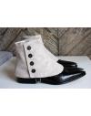 Luxury Men's Spats Cream Beige 100% wool flannel for elegant men dandy
