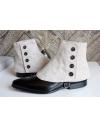 Luxury Men's Spats Cream Beige 100% wool flannel for elegant men loving the vintage style