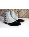 Luxury Men's Spats Light Grey 100% wool flannel for elegant men loving the vintage style