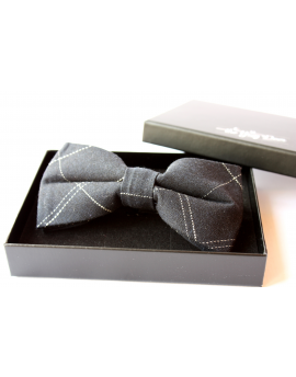 Navy Blue cotton checked pattern Bowtie for Elegant Stylish Dapper men