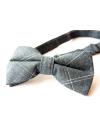 Indigo blue cotton checked pattern Bowtie for Elegant Stylish Dapper men
