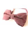 Burgundy cotton checked pattern Bowtie for Elegant Stylish Dapper men