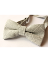 Light grey cotton checked pattern Bowtie for Elegant Stylish Dapper men