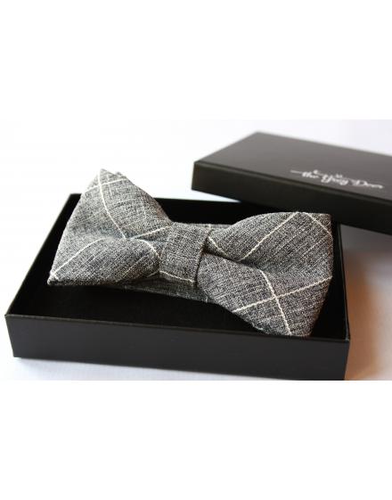 Heather Blue cotton checked pattern Bowtie for Elegant Stylish Dapper men
