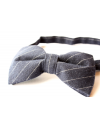 Black and white striped cotton checked pattern Bowtie for Elegant Stylish Dapper men