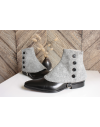 Luxury Men's Spats Heather grey Merino wool gaiters for elegant men dandy loving the vintage style