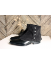 Luxury Men's Spats Black Alcantara® gaiters for elegant men dandy loving the vintage style