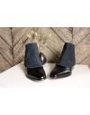 Luxury Men's Spats Midnight Blue Alcantara® gaiters for elegant men dandy loving the vintage style
