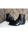 Luxury Men's Spats lamb leather Black color gaiters for elegant men dandy loving the vintage style