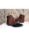 Luxury Men's Spats lamb leather velvet chocolate gaiters for elegant men dandy loving the vintage style
