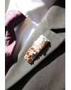 Bagdad - Lapel Pin Embroidered brooch haute-couture for Stylish Men