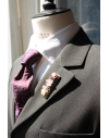 Saint-Émilion - Lapel Pin Embroidered brooch haute-couture for Stylish Men