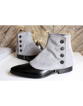 Luxury Men's Spats Grey Cashmere wool for elegant men loving the vintage style