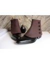 Luxury Men's Spats Terracotta Brown 100% wool for elegant men loving the vintage style