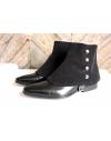 Luxury Men's Spats Black corduroy velvet for elegant men dandy loving the vintage style