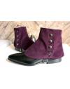 Luxury Men's Spats Violet corduroy velvet for elegant men dandy loving the vintage style