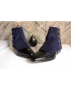 Luxury Men's Spats Navy Blue corduroy velvet for elegant men dandy loving the vintage style