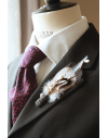 Mens wedding Feathers boutonniere Feathers Buttonhole for Groom and Groomsmen