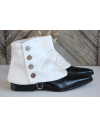 Luxury Men's Spats Ivory duchess silk satin for elegant men loving the vintage style