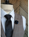 Kinshasa - Lapel Pin Embroidered brooch haute-couture for Stylish Men