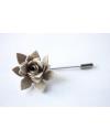 Succulent flower Lapel Pin, wedding boutonniere, fresh butter yellow Alcantara®