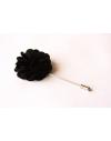 Black satin flower - lapel pin for dapper men