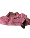 Men's Spats in Burgundy Snakeskin fabric