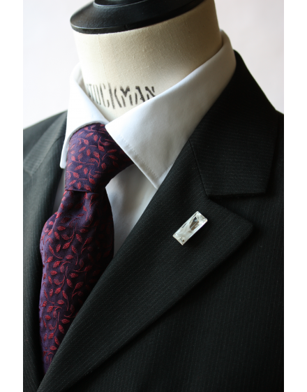 Lapel Pin made in white crystal Swarovski® Signed by Jean-Paul Gaultier