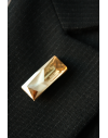 Lapel Pin made in golden crystal Swarovski® Signed by Jean-Paul Gaultier