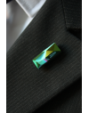 Lapel Pin made in Silver Night crystal Swarovski® Signed by Jean-Paul Gaultier
